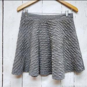 Zara Trafaluc  Gray Mini Skirt Soft M